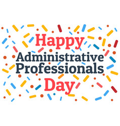 Administrative professionals day secretaries day vector