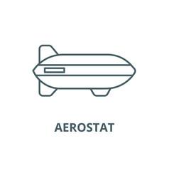aerostat line icon aerostat outline sign vector image