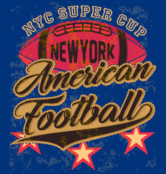 American football graphic tee poster vector