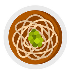 Asian noodles icon isolated vector