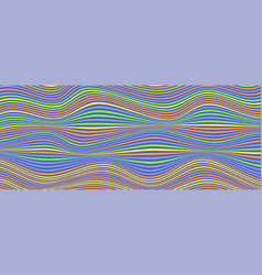 background with multi colored stripes wavy uneven vector image