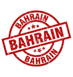 Bahrain red round grunge stamp vector