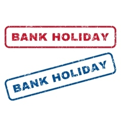 Bank Holiday Rubber Stamps vector