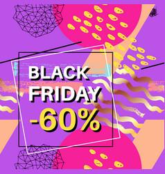 black friday sale banner for online shopping vector image