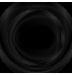Black smooth glossy round shape design vector image