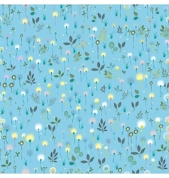 Blossoming Field Blue seamless pattern vector image