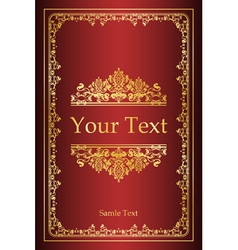 Book cover - vintage background vector