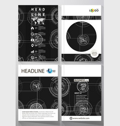 business templates for brochure magazine flyer vector image