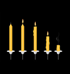 candle in various conditions vector image