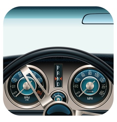 car dashboard square icon vector image
