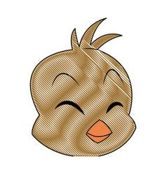Cartoon little chicken bird farm animal image vector