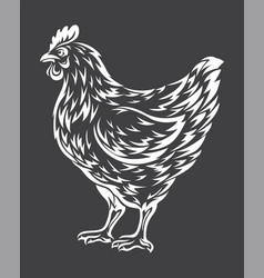 chicken sketch vector image