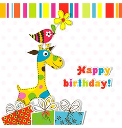 Children birthday scrapbook card vector image