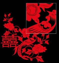 Chinese paper cut vector
