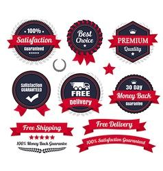 Classic Premium Quality Ecommerce Badges vector image