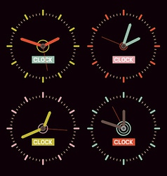 Clock on Black Background vector