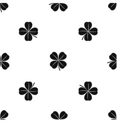 clover leaf pattern seamless black vector image