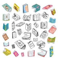 Colorful Open Books Drawing Library Big Collection vector