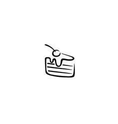 creative cherry cake logo vector image
