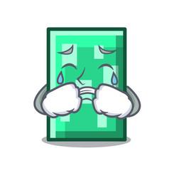 Crying rectangle mascot cartoon style vector
