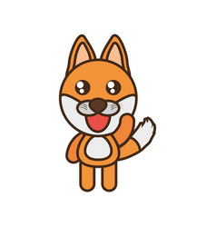 cute fox toy kawaii image vector image vector image