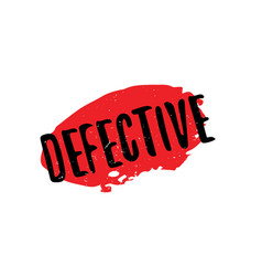 Defective rubber stamp vector
