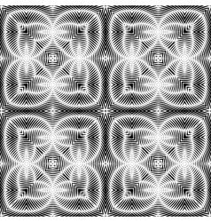 Design seamless striped ellipse pattern vector