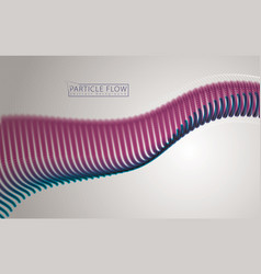 digital wave flowing particles in motion vector image