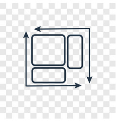 Dimension concept linear icon isolated on vector