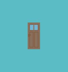 Door icon flat element of vector