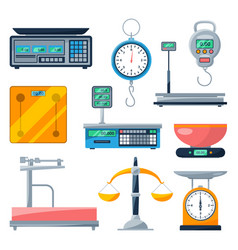 Electronic balance and other types of scales vector