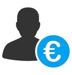 Euro Banker Icon vector