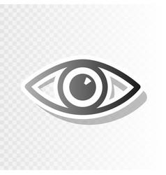 Eye sign new year blackish vector