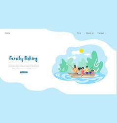flat banner family fishing vector image