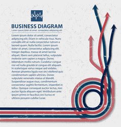 flat business diagram background vector image