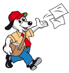 Flyer dog vector