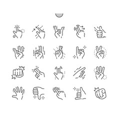 Gesture well-crafted pixel perfect thin vector