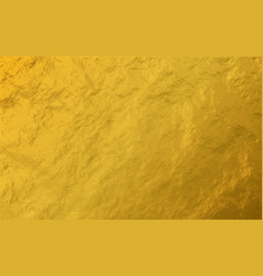 Gold foil leaf shiny texture background vector