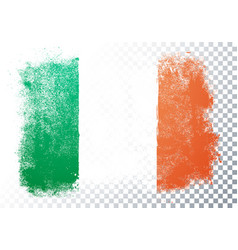 Grunge and distressed flag ireland vector