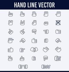 HAND LINE vector