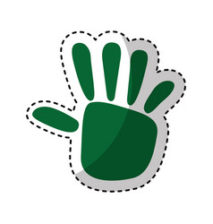 Hand print ecology symbol vector