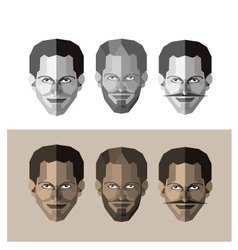 Human face vector image