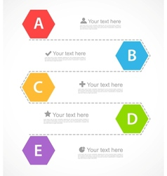 Infographic design with hexagons vector image