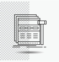 Internet page web webpage wireframe line icon on vector