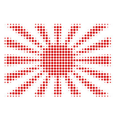 Japanese rising sun halftone icon vector