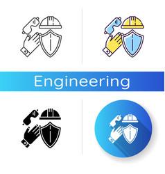 Labor safety icon vector