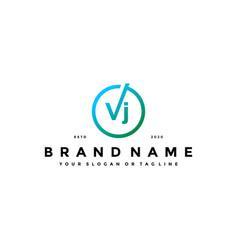 Letter vj logo design vector