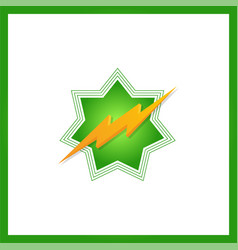 lightning bolt minimal simple symbol creative vector image