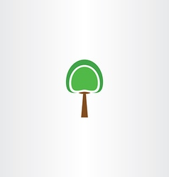 logo icon green tree sign element vector image
