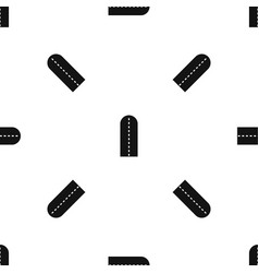 Long way pattern seamless black vector